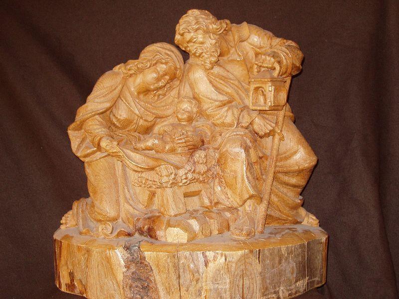 Nativity wood sculptor helmut perathoner ortisei in