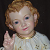 Child Jesus with glass eyes - detail - Woodcarver Perathoner Helmut